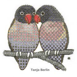 Blackwork Love Birds