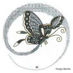 Blackwork Flight of a Butterfly