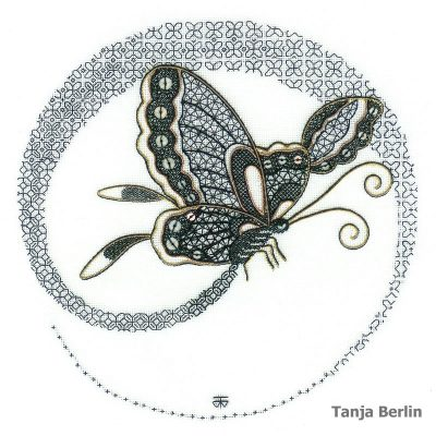 Blackwork Flight of a Butterfly