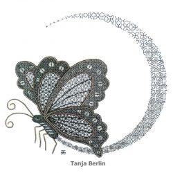 Blackwork Spectral Butterfly