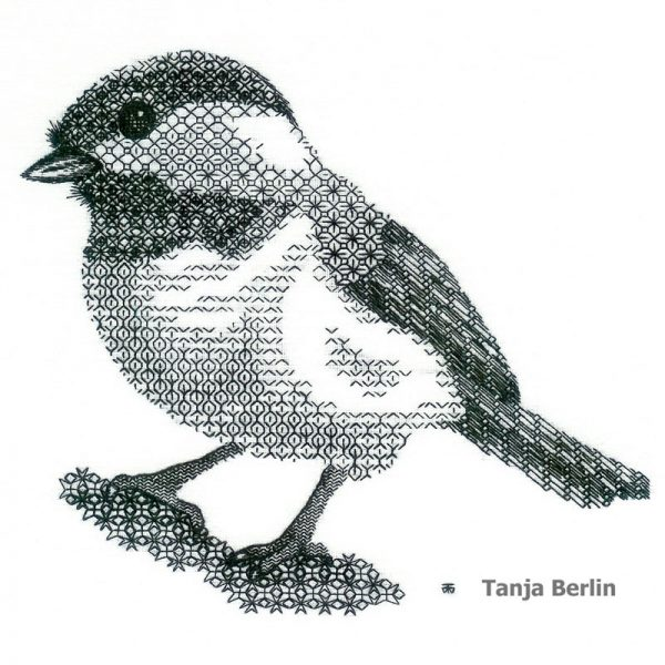 Blackwork Chickadee