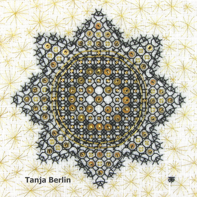 Blackwork Star Berlin Embroidery Designs