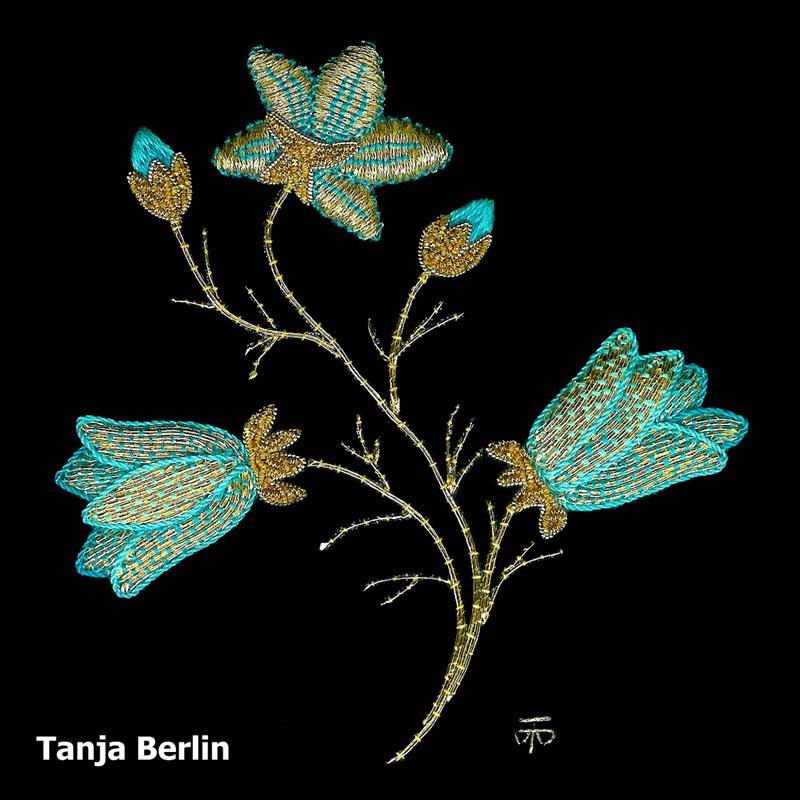 Goldwork Harebell Kit Berlin Embroidery Designs