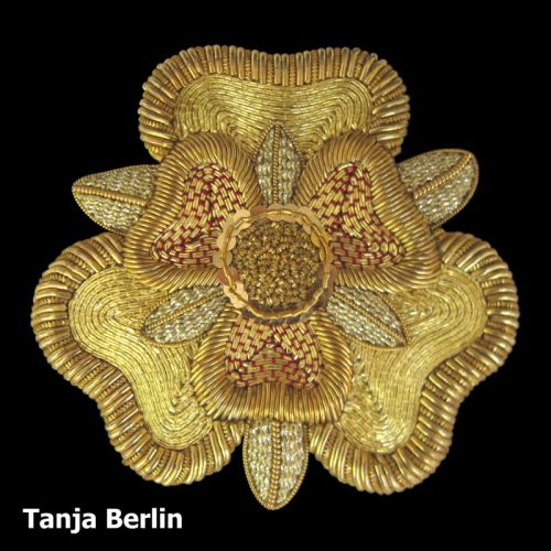 Goldwork Tudor Rose