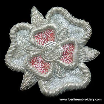Silver Tudor Rose
