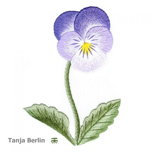 Clear Purple Pansy Needle Painting