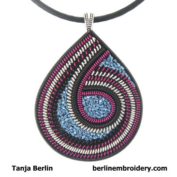Metal Thread Pendant - Swirl